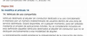 Cambio en los Contenidos Afectados por los cambios en el Reglamento de Vehículos